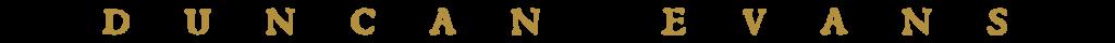 Duncan Evans - Text Logo
